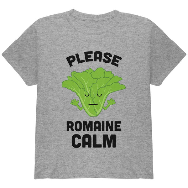 Vegetable Lettuce Please Romaine Remain Calm Funny Youth T Shirt