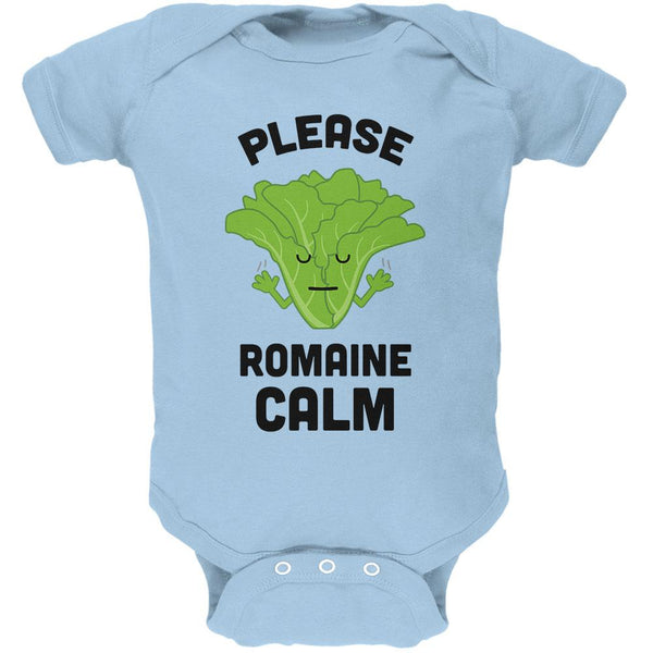 Vegetable Lettuce Please Romaine Remain Calm Funny Soft Baby One Piece
