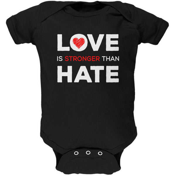 Activist Love is Stronger Than Hate World Peace Equality Soft Baby One Piece
