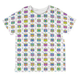 Retro Boombox Stereo Pattern All Over Toddler T Shirt