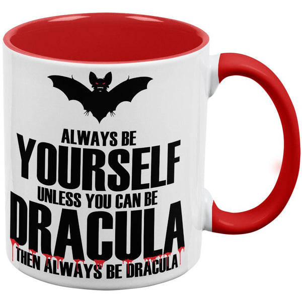 Always Be Yourself Dracula Red Handle Coffee Mug