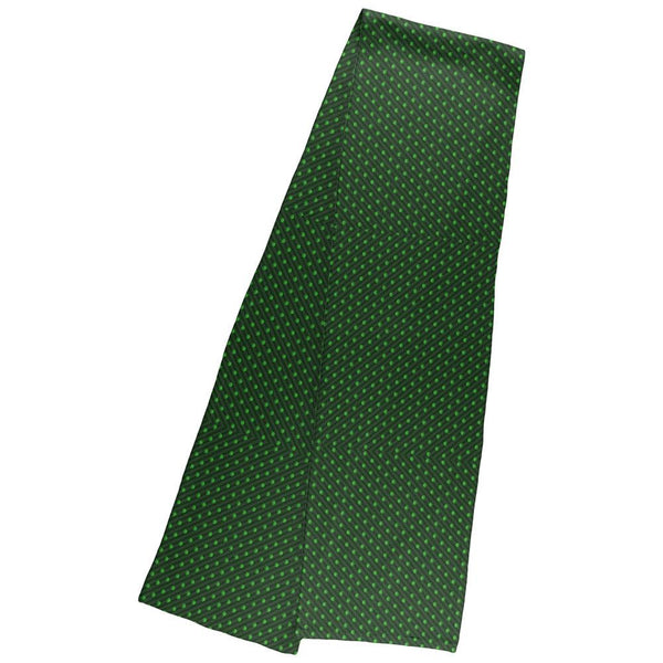 Pot Leaf Subtle Green Stripes Pattern Warm Fleece Scarf