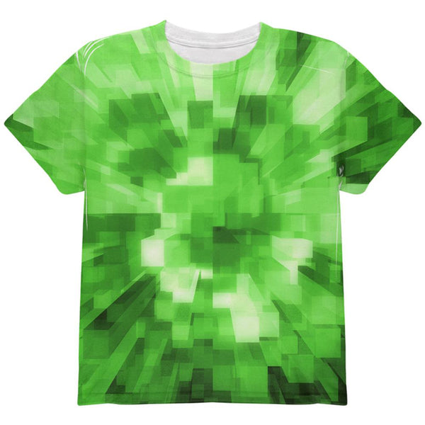 World Game Builder Forest Blocks All Over Youth T Shirt