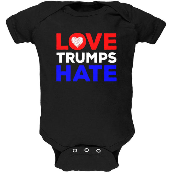 Activist Love Trumps Hate Soft Baby One Piece