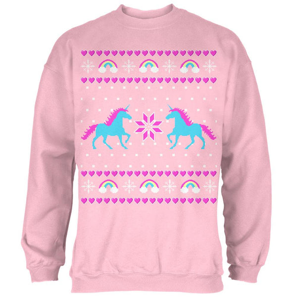 Unicorn Rainbow Ugly Christmas Sweater Mens Sweatshirt