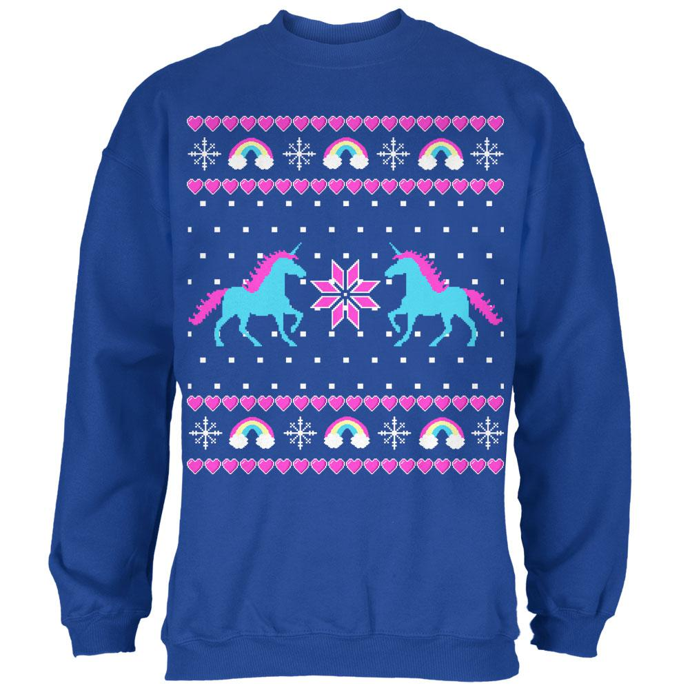 Unicorn Rainbow Ugly Christmas Sweater Mens Sweatshirt Oldglorycom