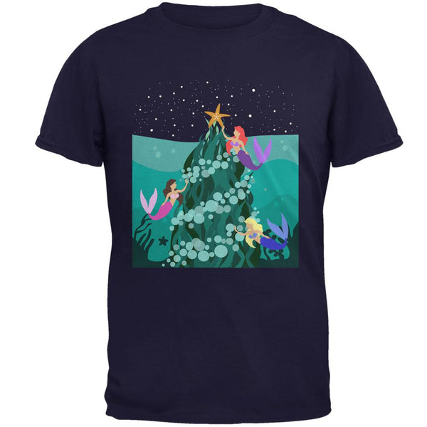 Mermaid Christmas Tree Mens T Shirt