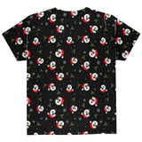 Christmas Santas in Sunglasses Pattern All Over Youth T Shirt