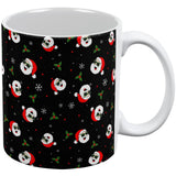 Christmas Santas in Sunglasses Pattern All Over Coffee Mug