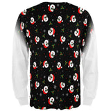 Christmas Santas in Sunglasses Pattern All Over Mens Long Sleeve T Shirt