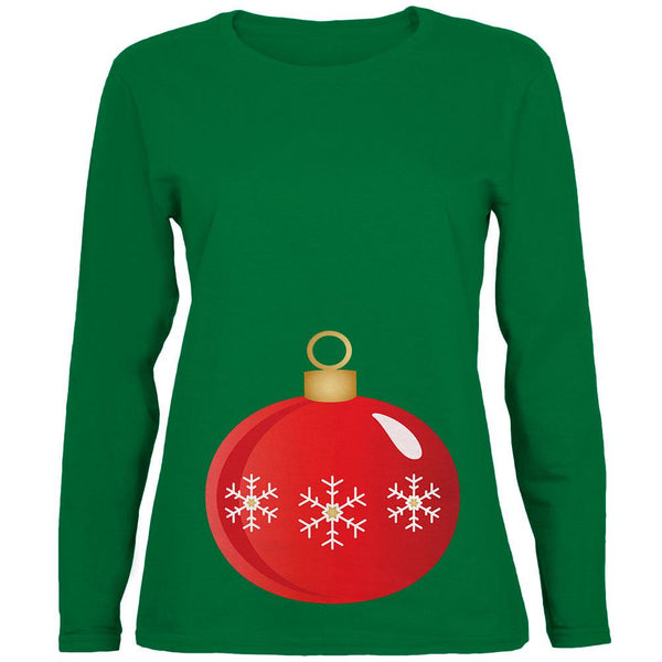 Maternity Christmas Ornament Womens Long Sleeve T Shirt