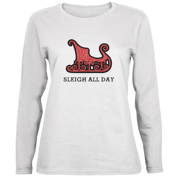 Christmas Sleigh Slay All Day Ladies' Relaxed Jersey Long-Sleeve Tee