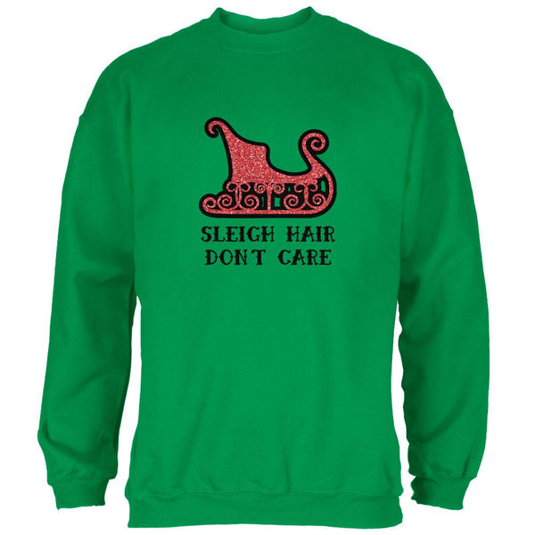 Christmas Sleigh Hair Don't Care Mens Sweatshirt