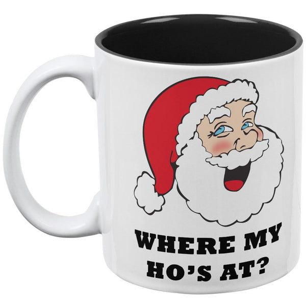 Christmas Santa Wrap it Up Funny All Over Coffee Mug