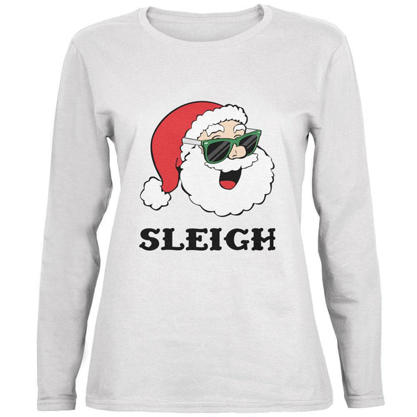 Christmas Santa Sunglasses Sleigh Slay Ladies' Relaxed Jersey Long-Sleeve Tee