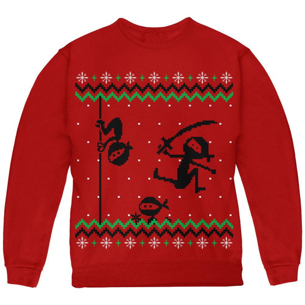 Ninja Ninjas Attack Ugly Christmas Sweater Youth Sweatshirt