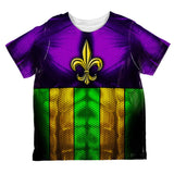 Mardi Gras Drinking Champion Superhero Costume All Over Toddler T Shirt