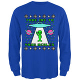 Alien Take Me to Your Dealer Ugly Christmas Sweater Mens Long Sleeve T Shirt
