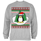 Penguin on Ice Ugly Christmas Sweater Mens Sweatshirt