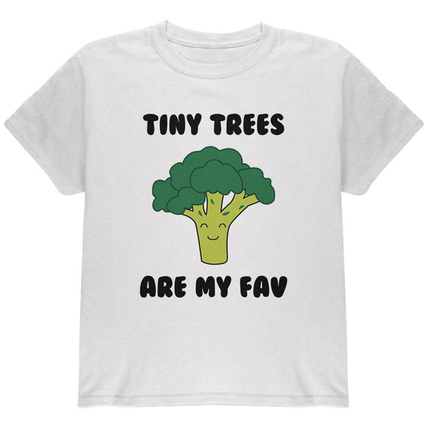 Vegetable Broccoli Tiny Trees are My Favorite Funny Youth T Shirt