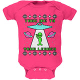 Alien Take Me to Your Leader Ugly Christmas Sweater Soft Baby One Piece