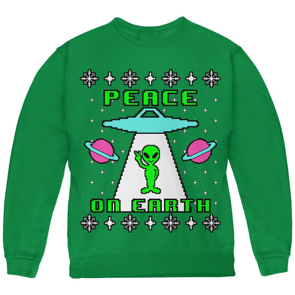 Alien Peace on Earth Ugly Christmas Sweater Youth Sweatshirt