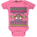 Retro 90s Nostalgia Classic Ugly Christmas Sweater Soft Baby One Piece