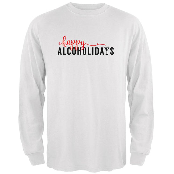 Happy Alcoholidays Holidays Mens Long Sleeve T Shirt