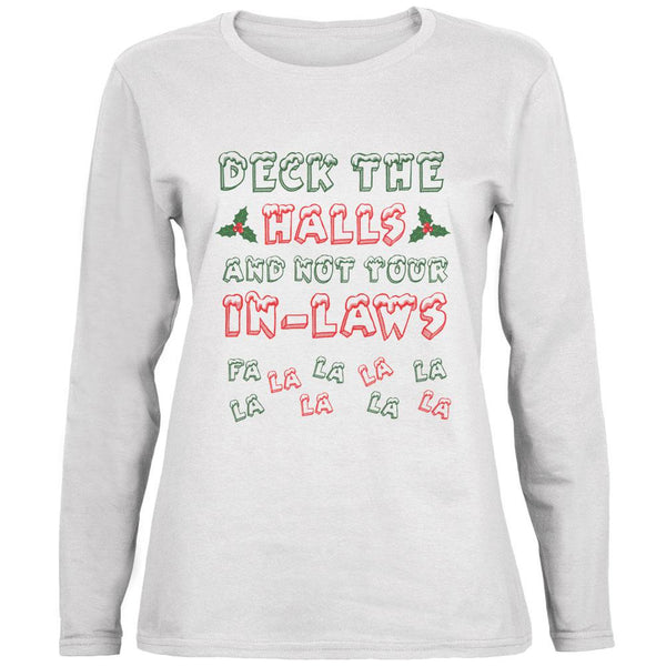 Christmas Deck the Halls Not Your In-Laws Ladies' Relaxed Jersey Long-Sleeve Tee