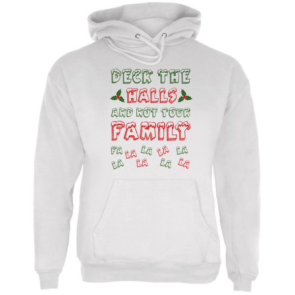 Christmas Deck the Halls Not Your Family Mens Hoodie