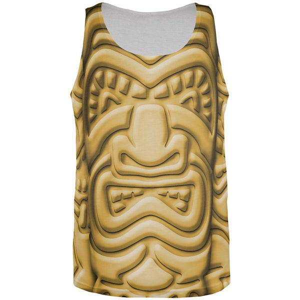 Tiki God Gold Face Luau All Over Mens Tank Top
