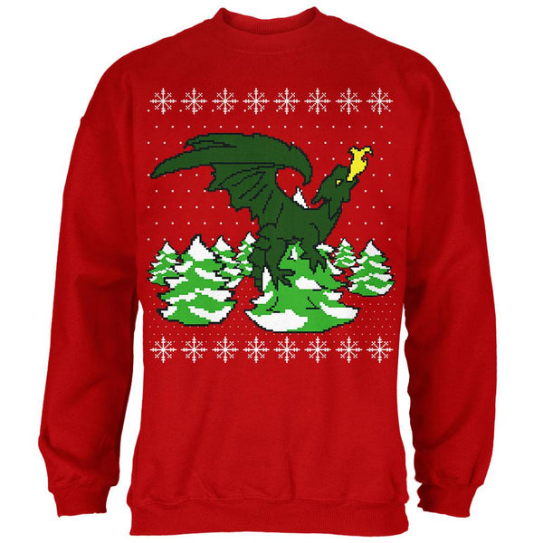 Ugly Christmas Sweater Dragon Winter Mens Sweatshirt