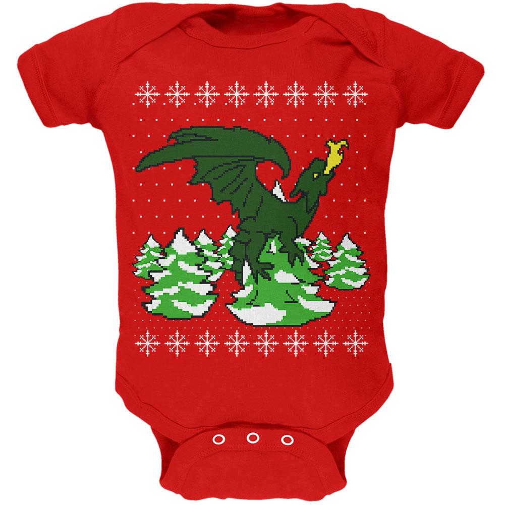 Ugly Christmas Sweater Dragon Winter Soft Baby One Piece Oldglorycom
