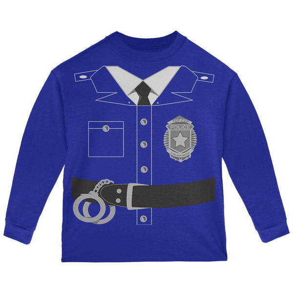 Halloween Police Policeman Cop Costume Toddler Long Sleeve T Shirt