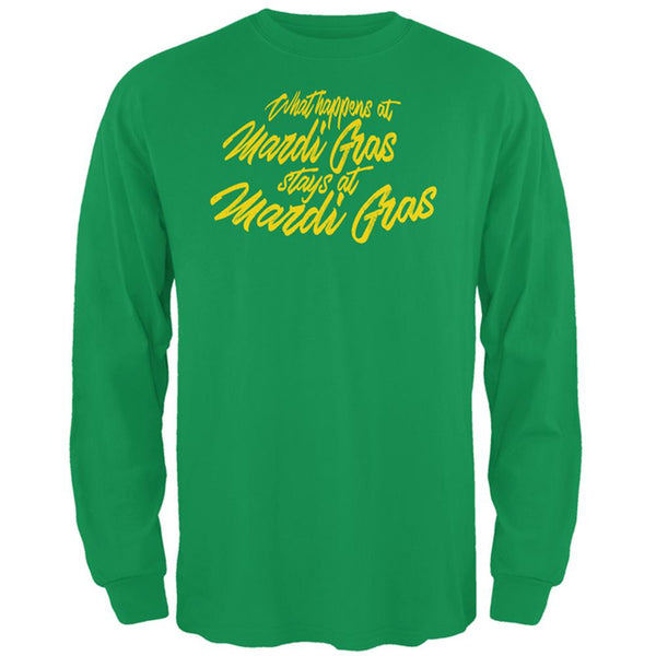What Happens at Mardi Gras Stays Mens Long Sleeve T Shirt