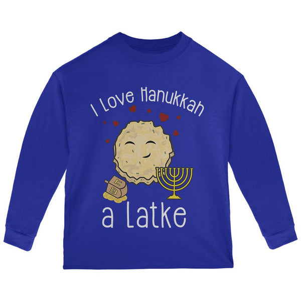 I Love Hannukah a Lot Latke Toddler Long Sleeve T Shirt