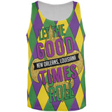 Mardi Gras Let the Good Times Roll Jester All Over Mens Tank Top