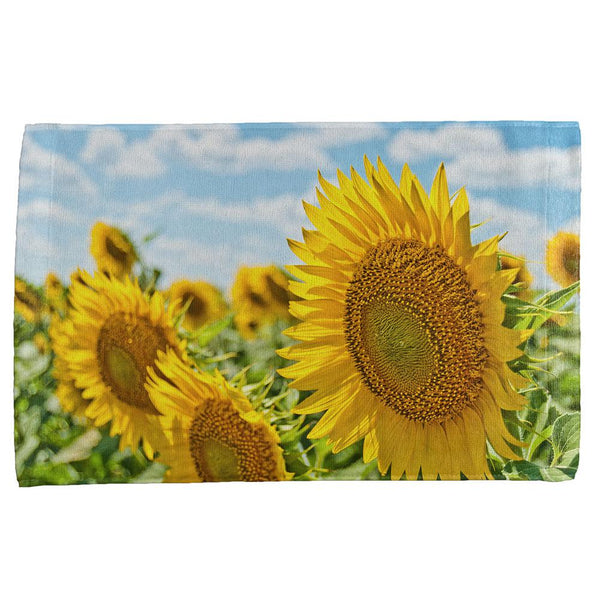 Sunflower Fields All Over Hand Towel