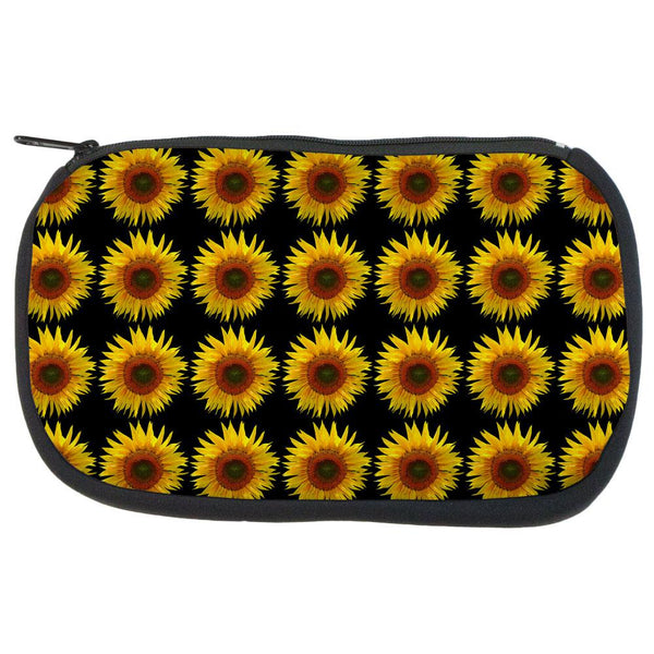 Sunflower Pattern Makeup Bag