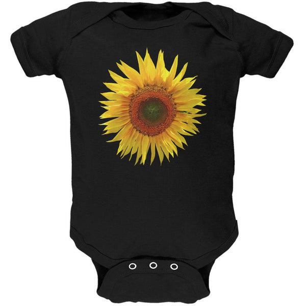 Giant Sunflower Soft Baby One Piece