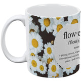 Flower Child Definition Daisies All Over Coffee Mug
