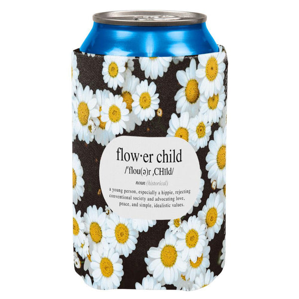 Flower Child Definition Daisies All Over Can Cooler
