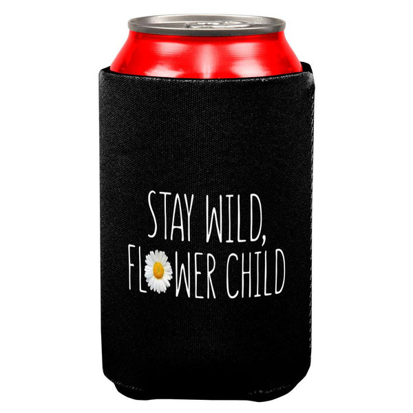 Stay Wild Flower Child Daisy All Over Can Cooler