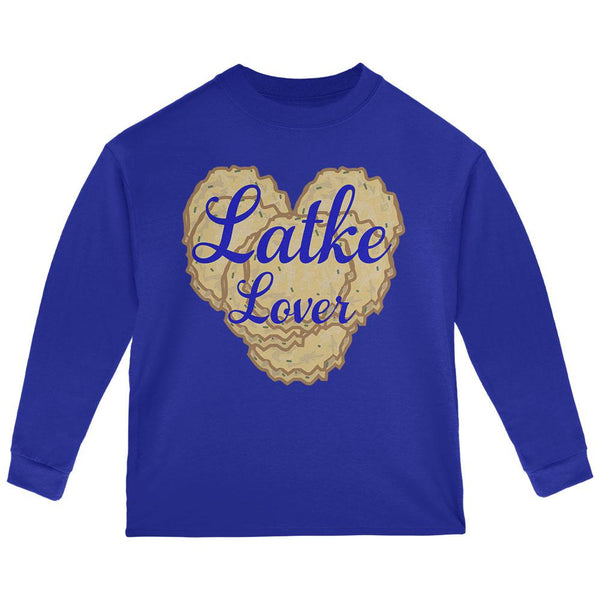 Hanukkah Latke Lover Toddler Long Sleeve T Shirt