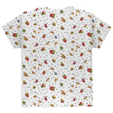 Junk Food Pattern All Over Youth T Shirt