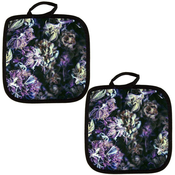 Marijuana Purple Haze All Over Pot Holder (Set of 2)