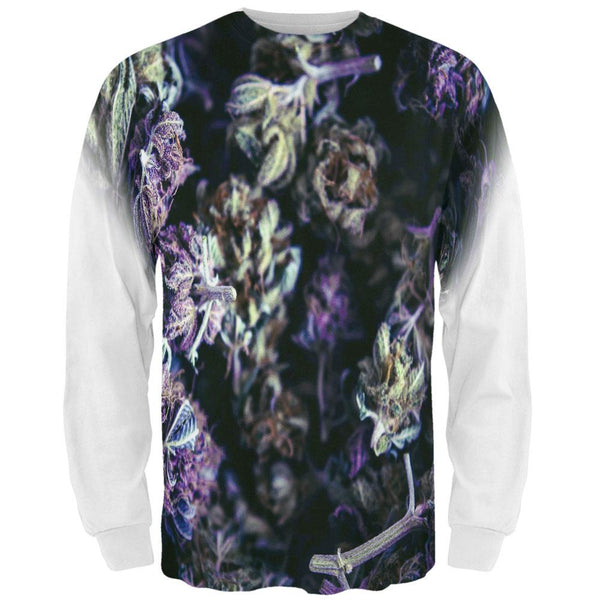 Marijuana Purple Haze All Over Mens Long Sleeve T Shirt