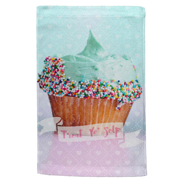 Treat Yo Self Cupcakes All Over Hand Towel