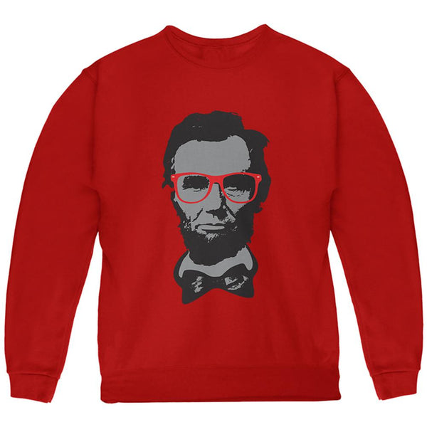 Abraham Lincoln Hipster Geek Glasses Youth Sweatshirt
