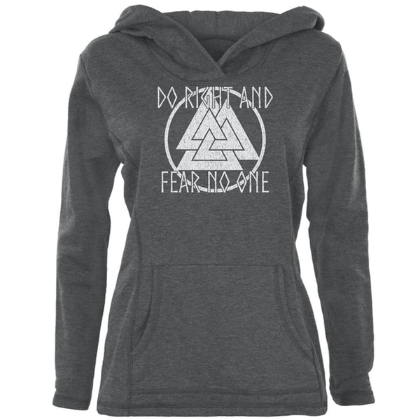 Do Right Fear No One Valknut Viking Odin Womens Pullover Hoodie